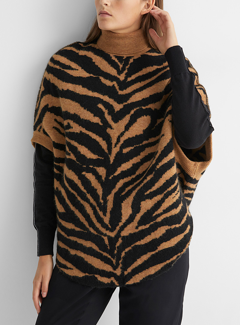 MM6 Maison Margiela Honey Tiger jacquard sweater for women
