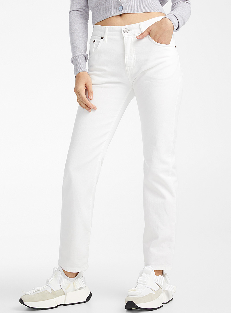 MM6 Maison Margiela Ivory White Immaculate jean for women