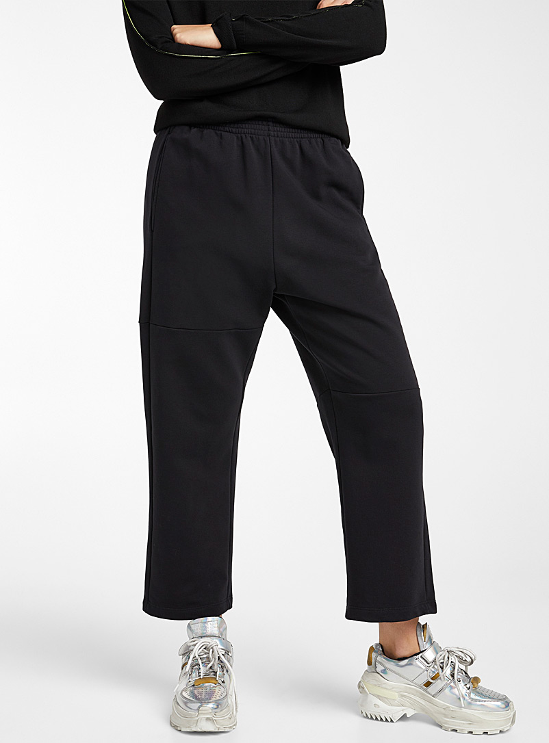 MM6 Maison Margiela Black Insert joggers for women