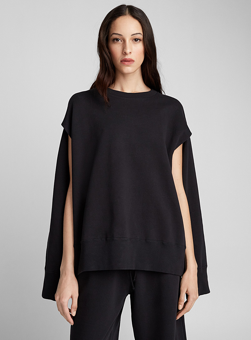 Open-sleeve sweatshirt - MM6 Maison Margiela - Black