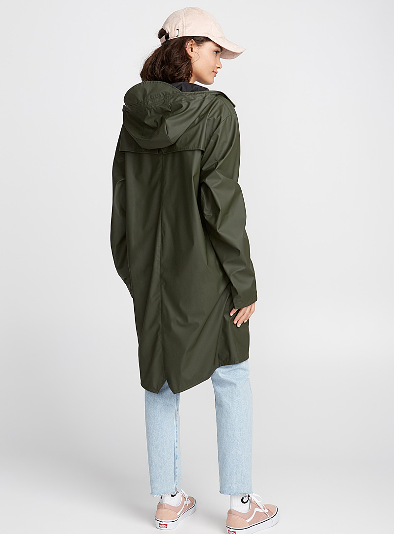 Long utilitarian raincoat - Raincoats - Mossy Green