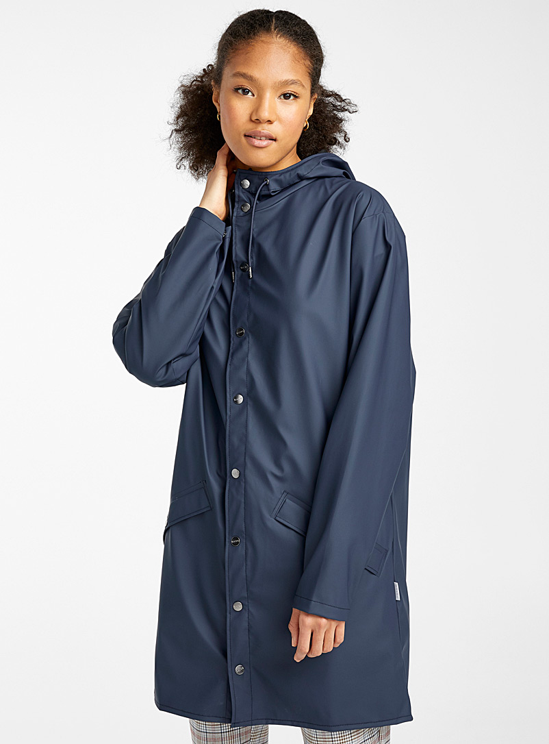 Rains Sand  Long utilitarian raincoat for women