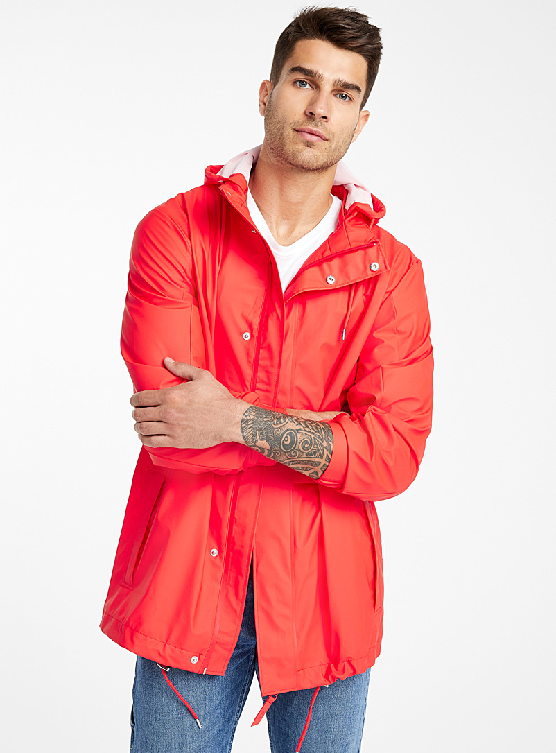 Le long imper Tracksuit - Imperméables et coupe-vents - Rouge