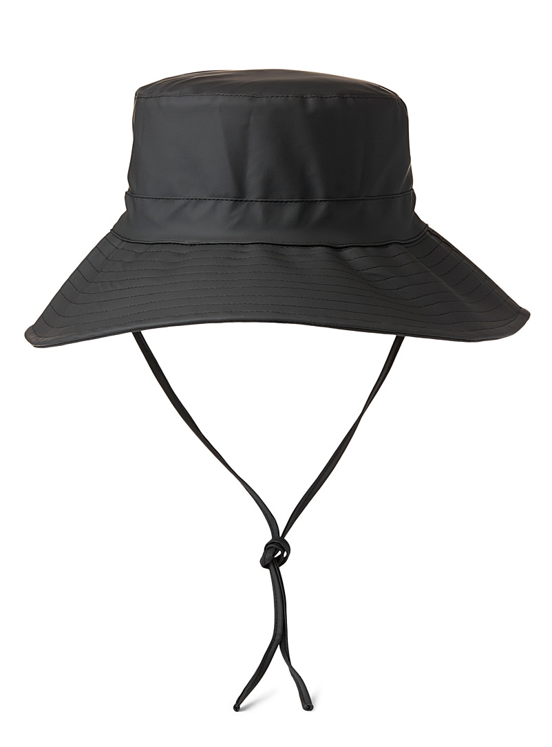 Rains Black Boonie rain hat for women