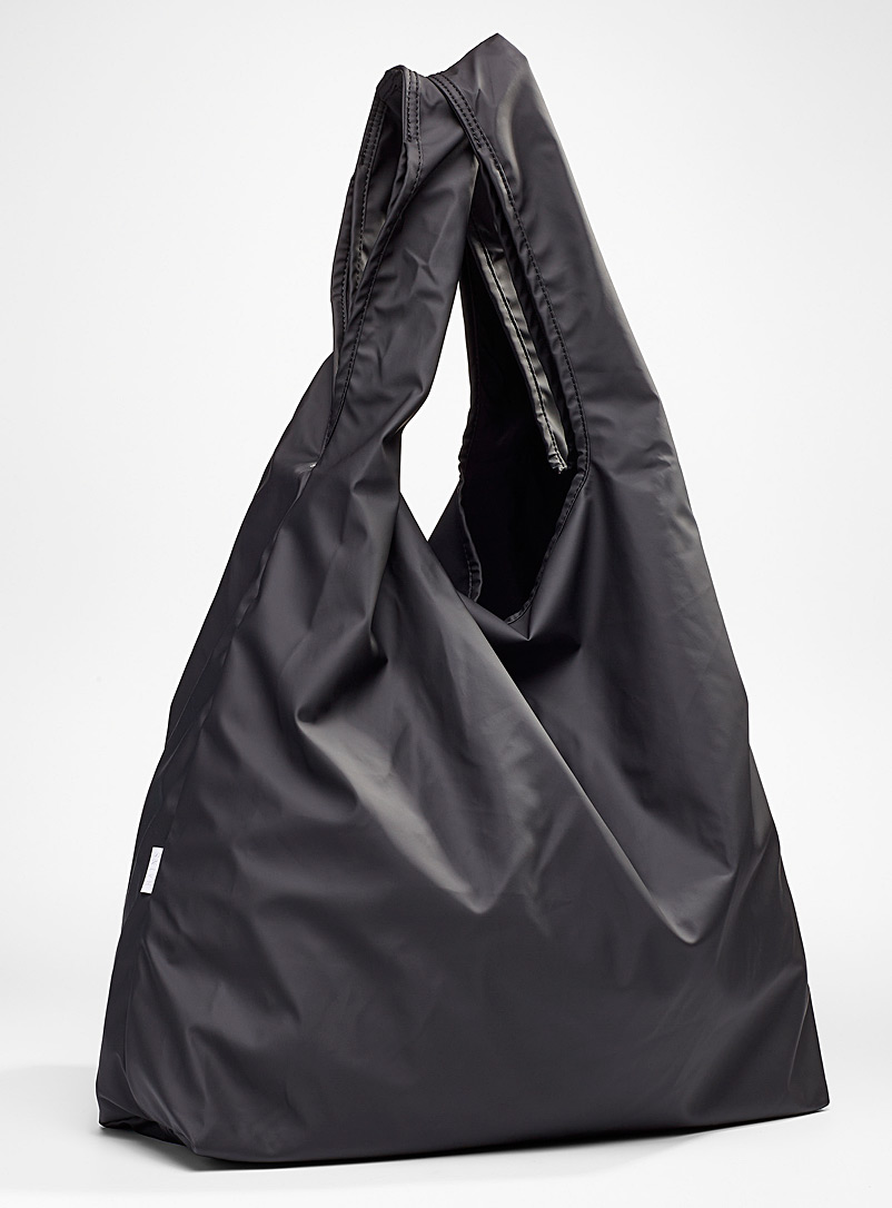 Rains Black Large waterproof tote for women