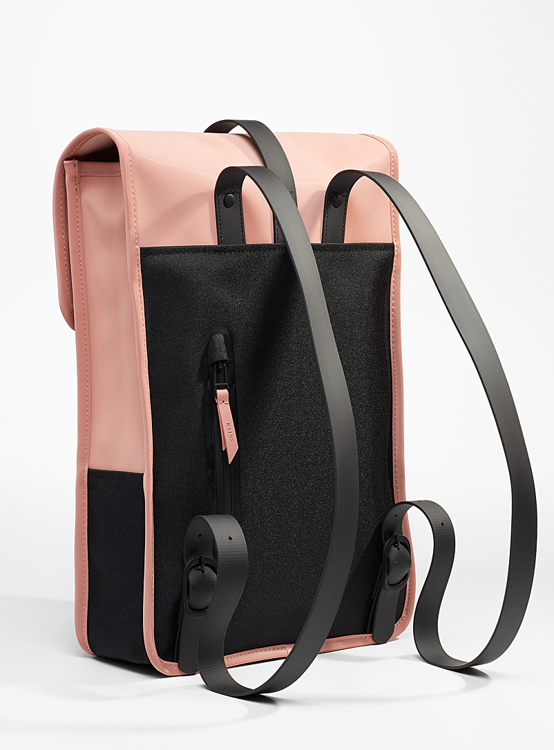 Rains Pink Minimalist backpack for women