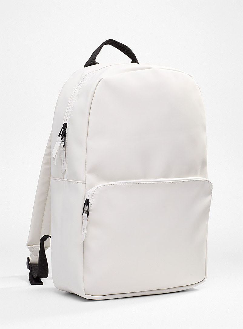 Rains Ivory White Field backpack for women
