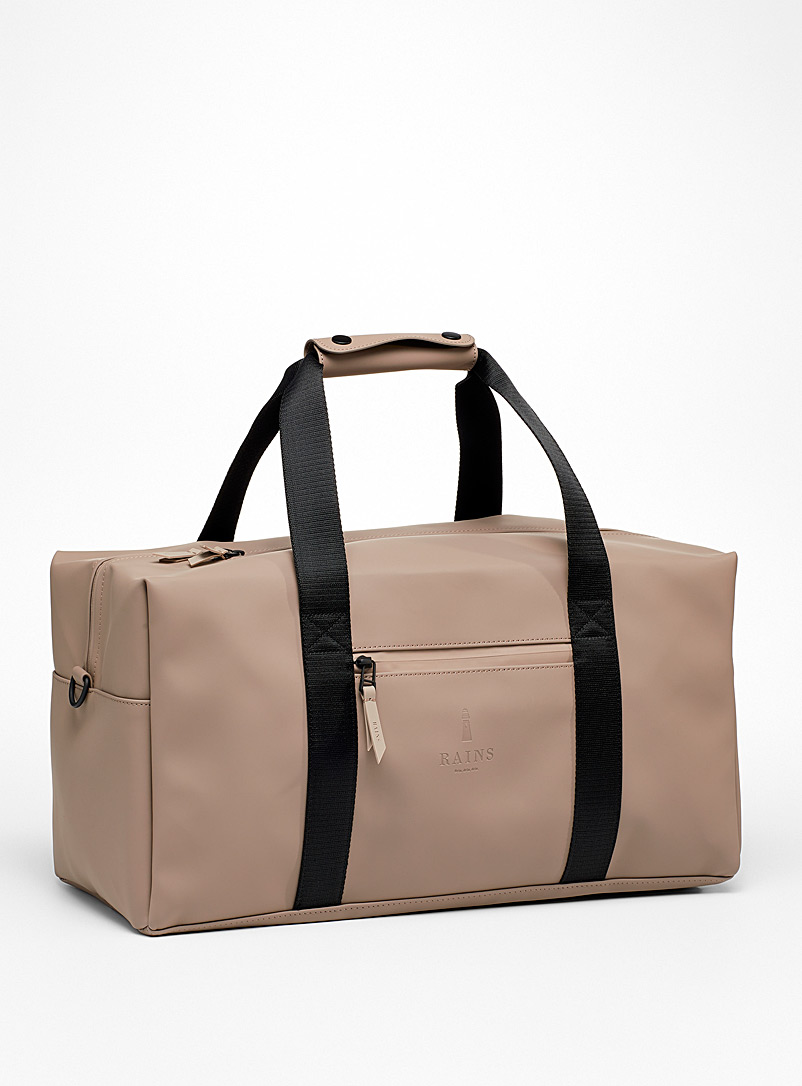 Rains Light Brown Waterproof duffle bag for women