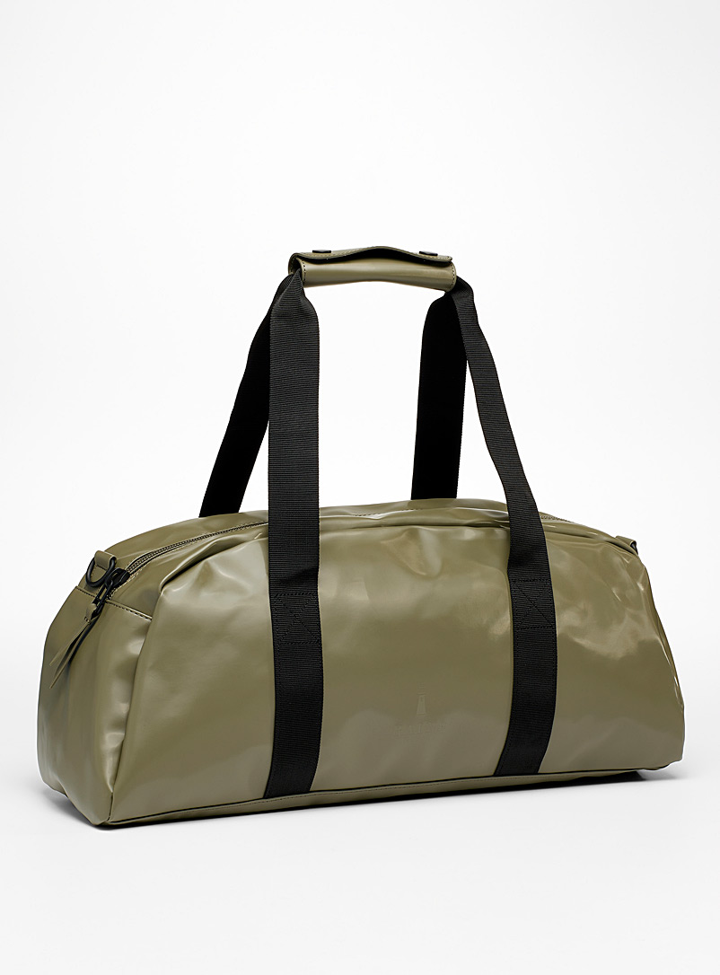 Rains Mossy Green Small waterproof duffle bag for women