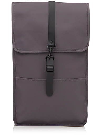 Matte faux-leather minimalist backpack