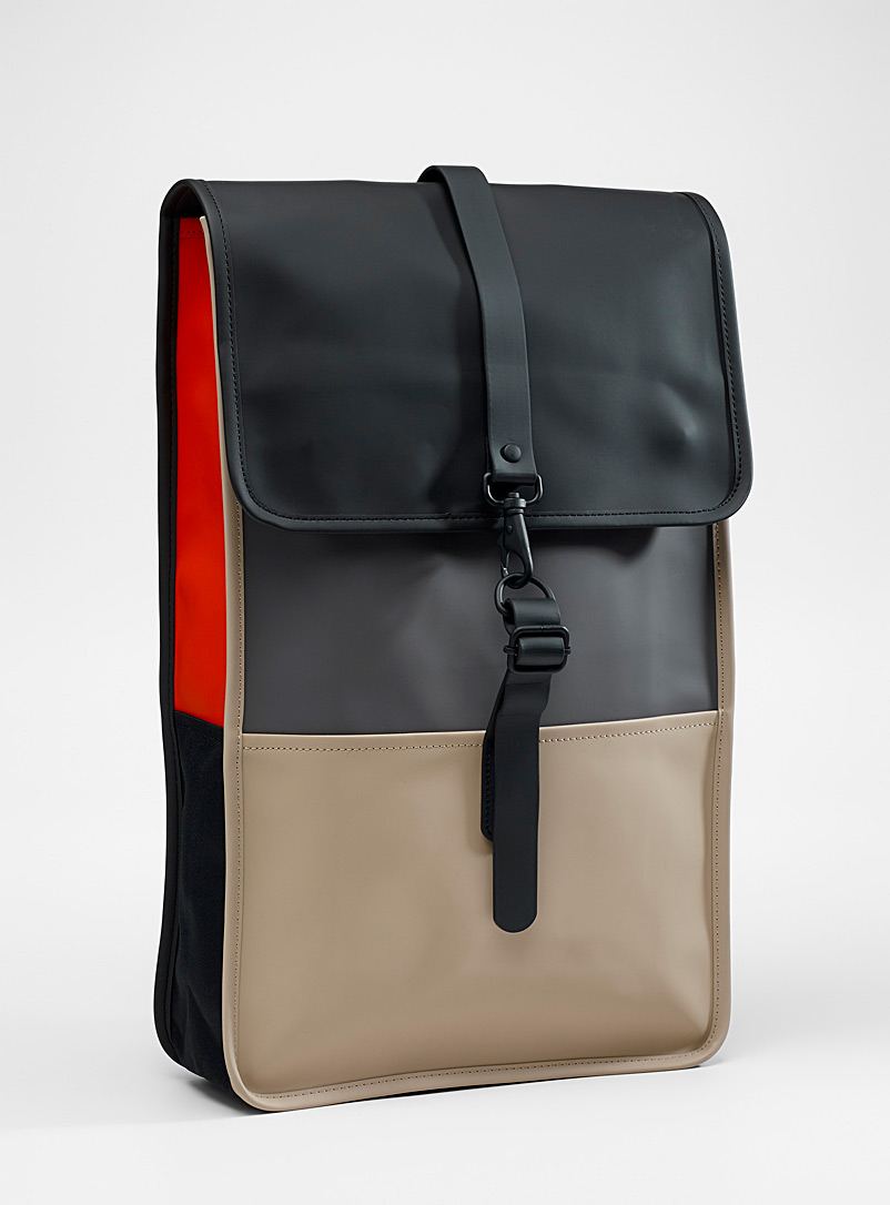 Minimalist colour block backpack - Backpacks - Patterned Black