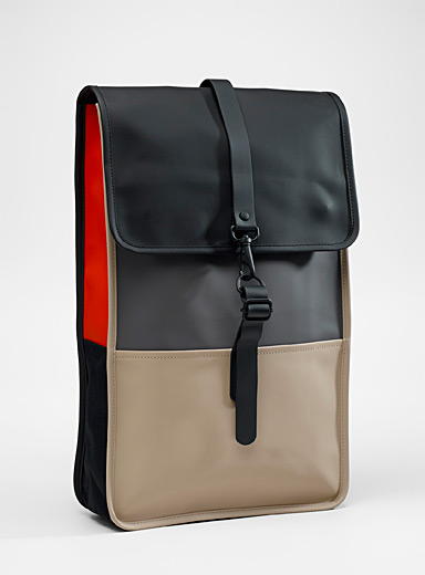 Minimalist colour block backpack