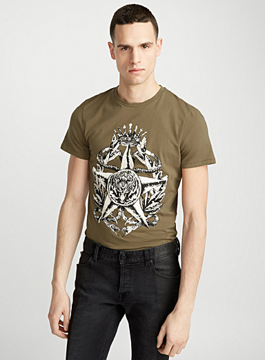 Royal tiger printed T-shirt