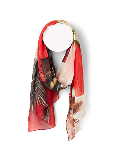 The Artists Label Patterned Red Lady Bellissimo scarf for women