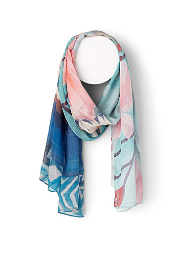 The Artists Label Patterned Blue Matisse scarf for women