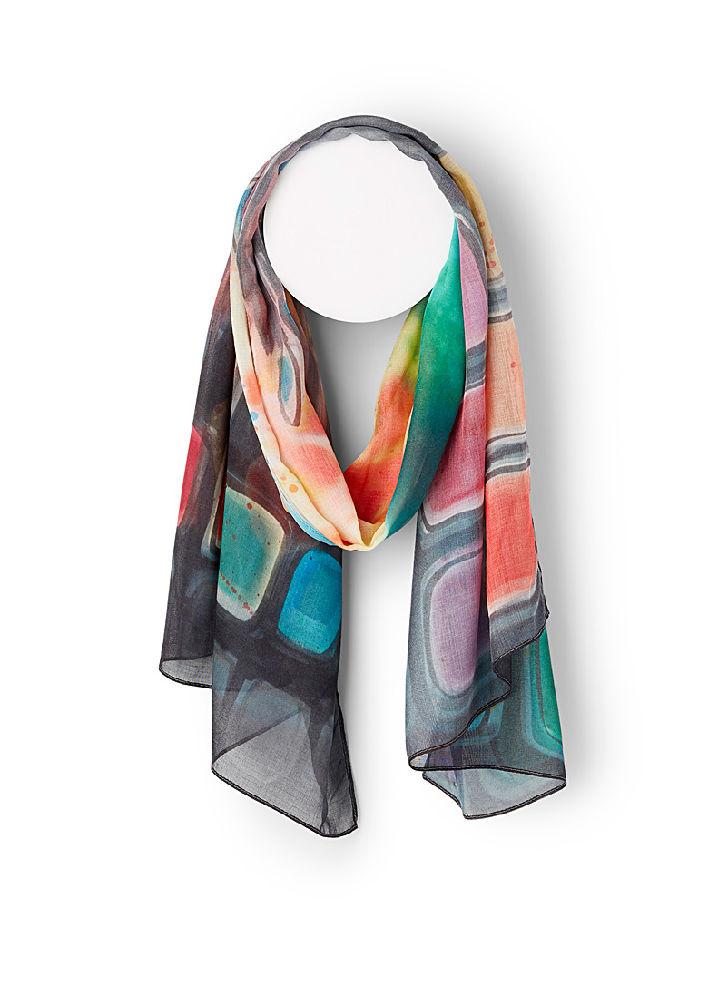 The Artists Label Assorted Paint box scarf for women