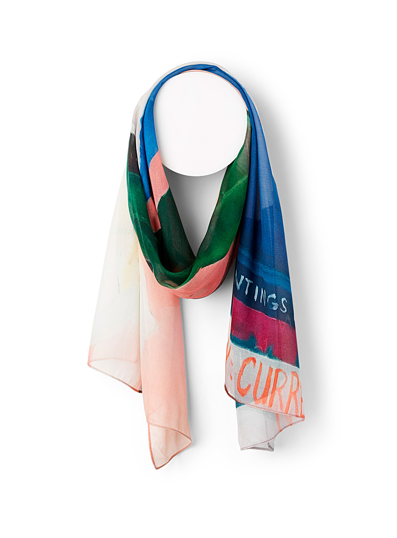 The Artists Label Assorted My Orchid scarf for women