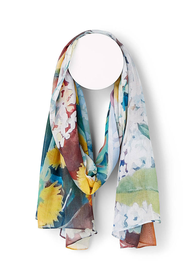 Mirrors and Dandelions scarf - Light scarves - Patterned Green