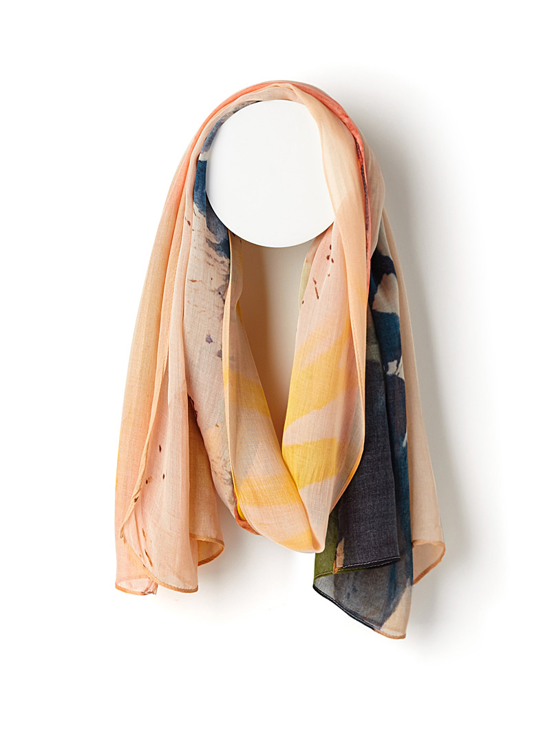 Sunrise in France scarf - Light scarves - Patterned Yellow