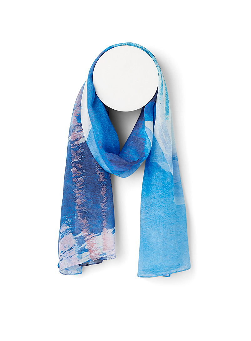 The Artists Label Patterned Blue Twiggy scarf for women