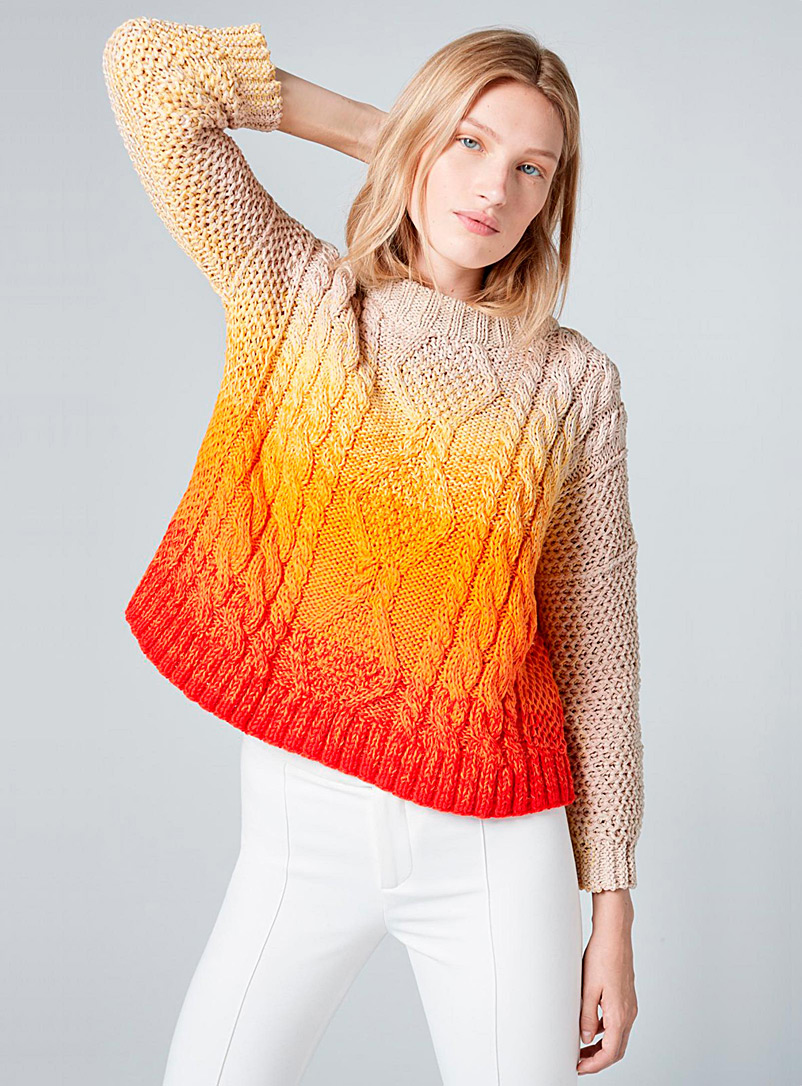 Smythe Orange Surfer sweater for women