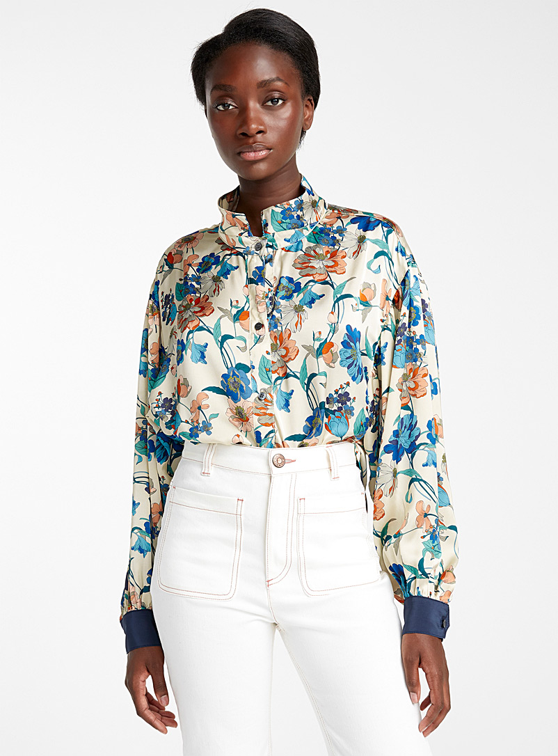 Botanical print poet blouse - Smythe - Assorted