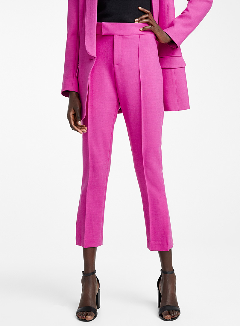 Smythe Purple Stovepipe pant for women