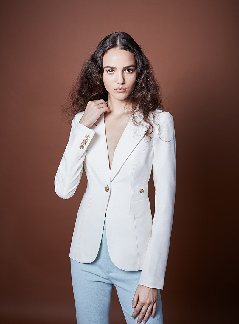 Smythe White Classic jacket for women