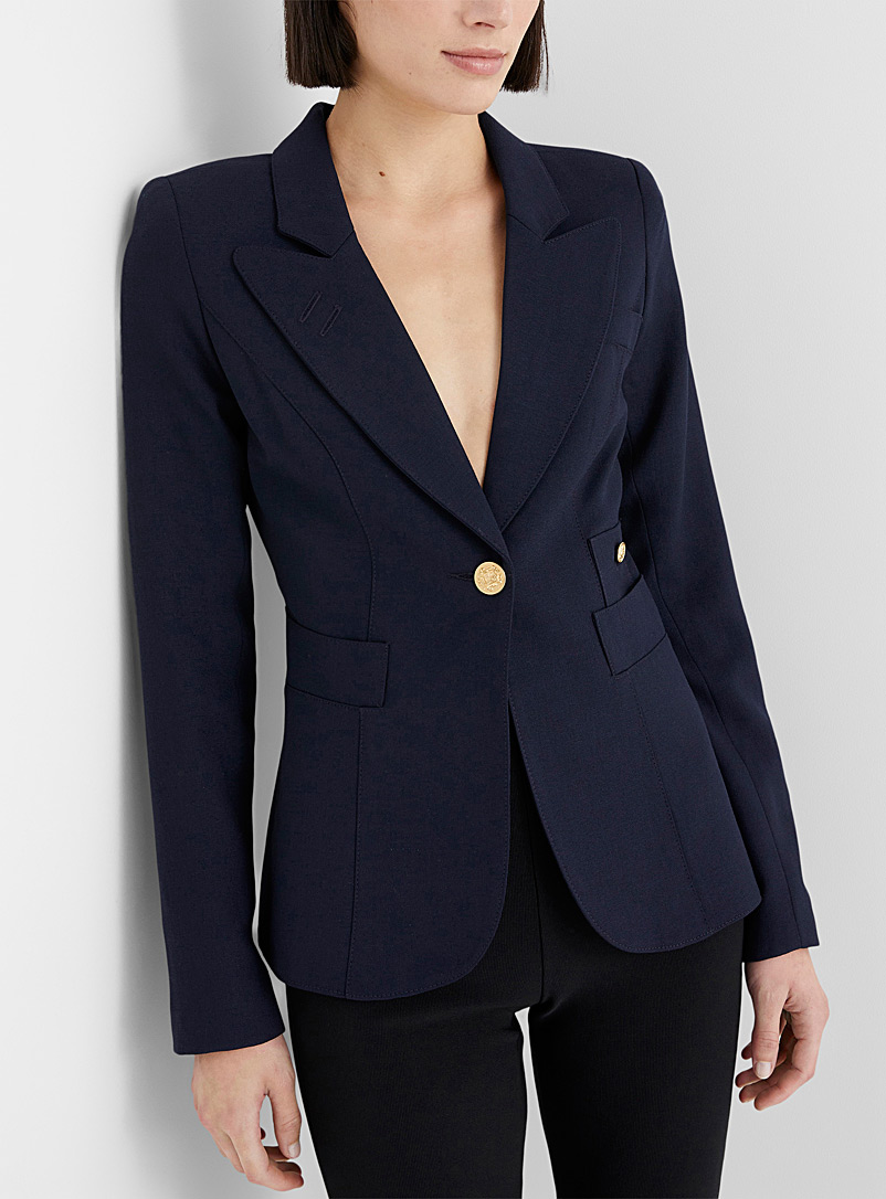 Smythe Marine Blue Classic jacket for women