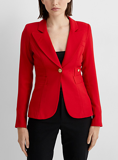 Smythe Red Classic jacket for women