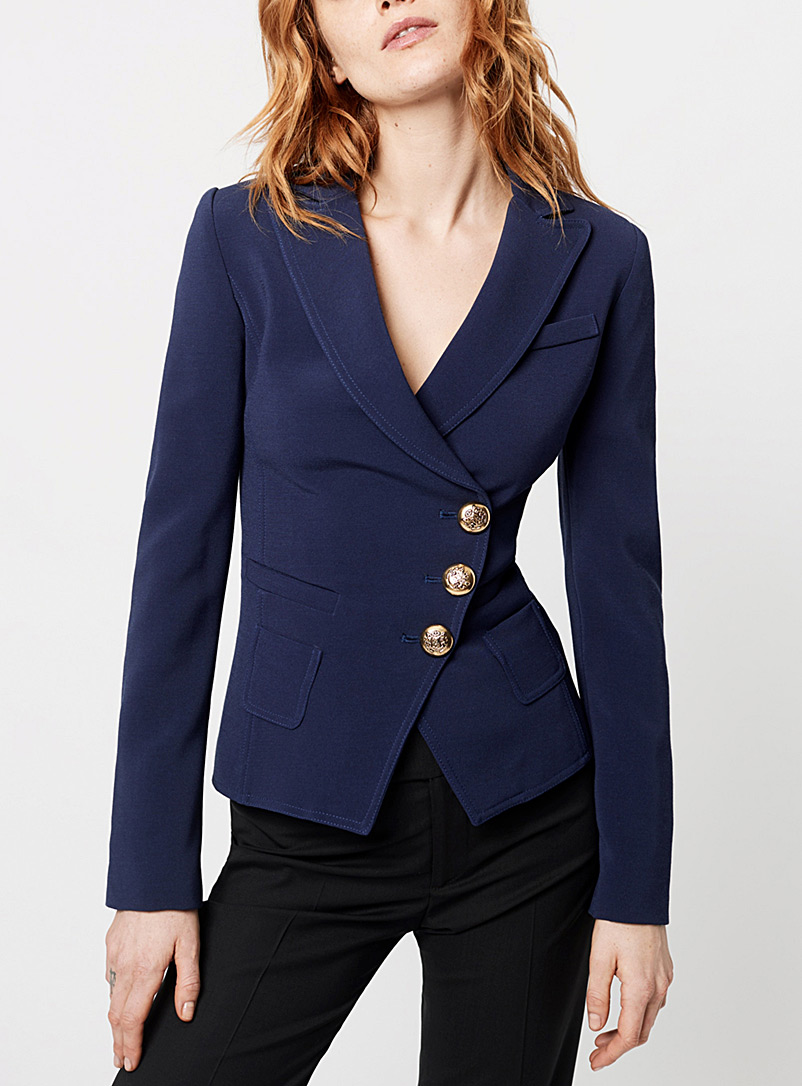 Smythe Marine Blue Wrap jacket for women
