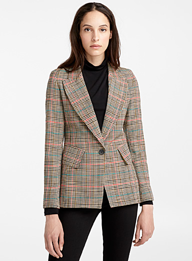 Lounge check jacket