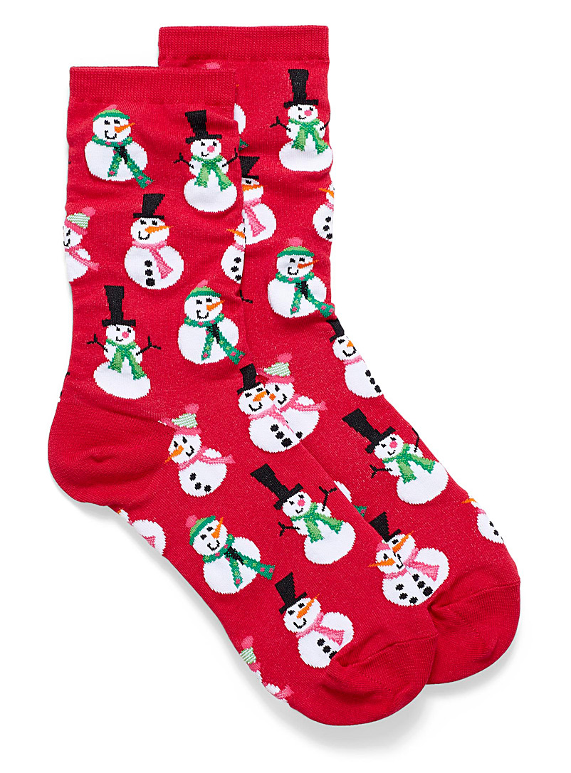 snowman-ankle-socks