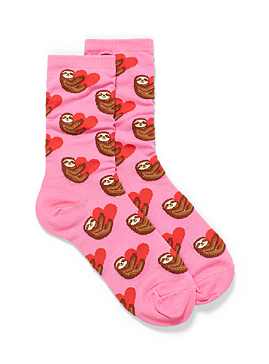 Sloth lovers ankle socks