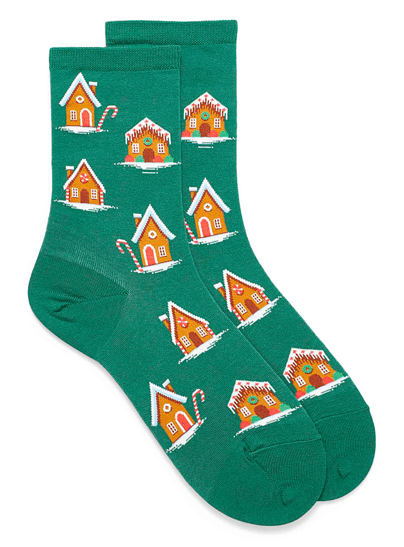 gingerbread-house-ankle-socks
