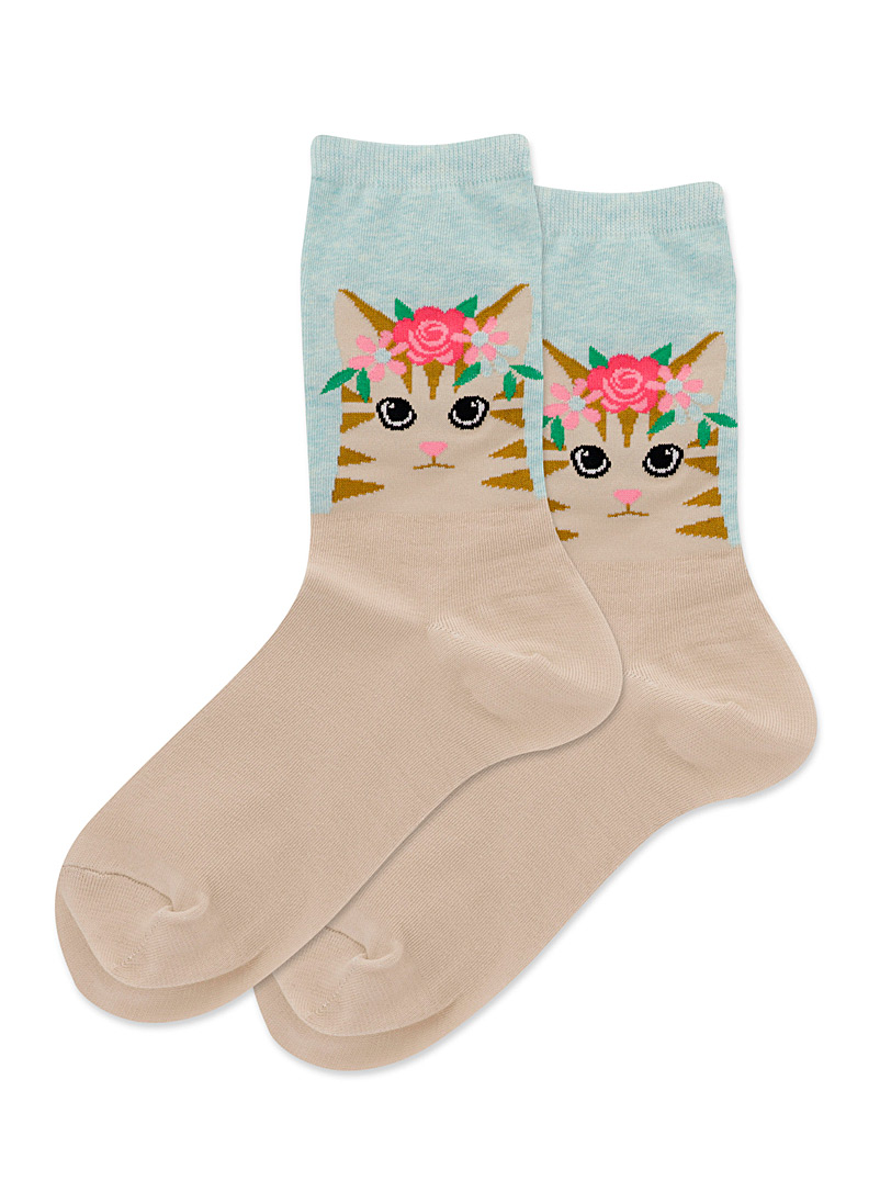 Hot Sox Assorted Royal cat socks for women