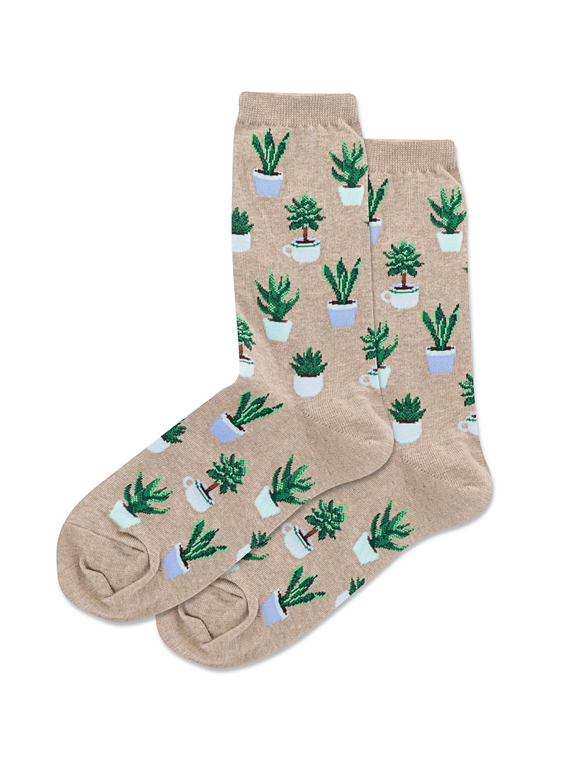 Hot Sox Sand Green space socks for women