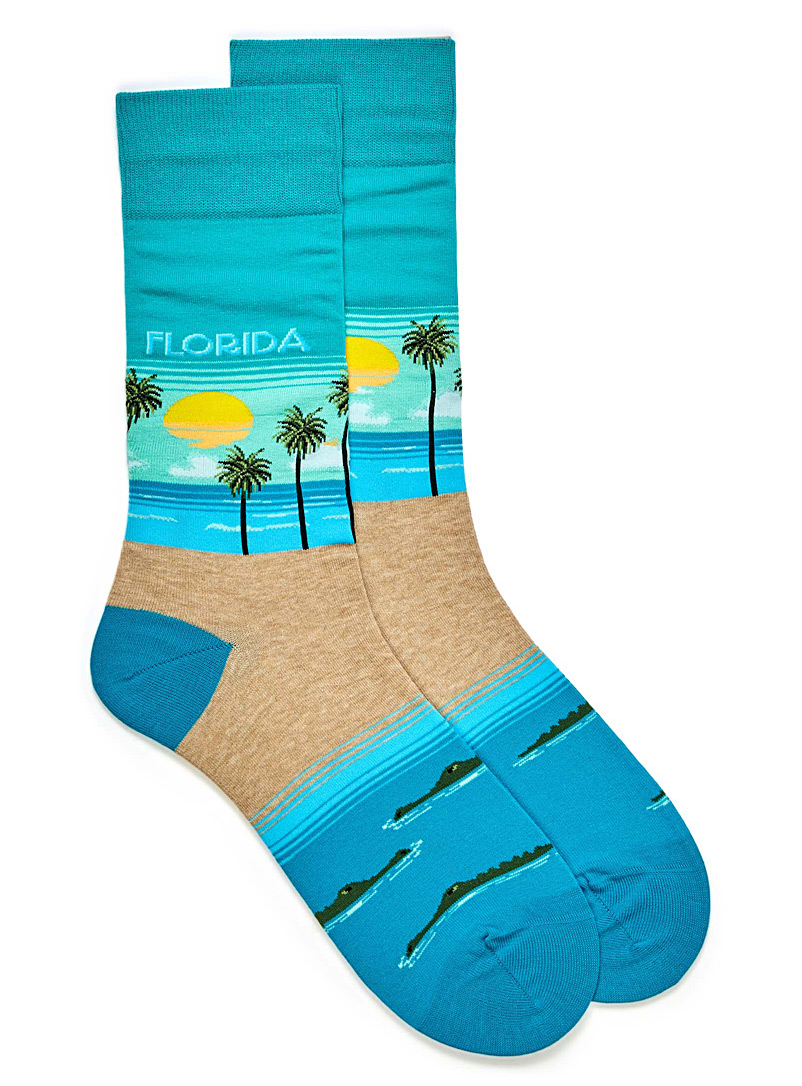 Florida socks - Casual socks - Baby Blue