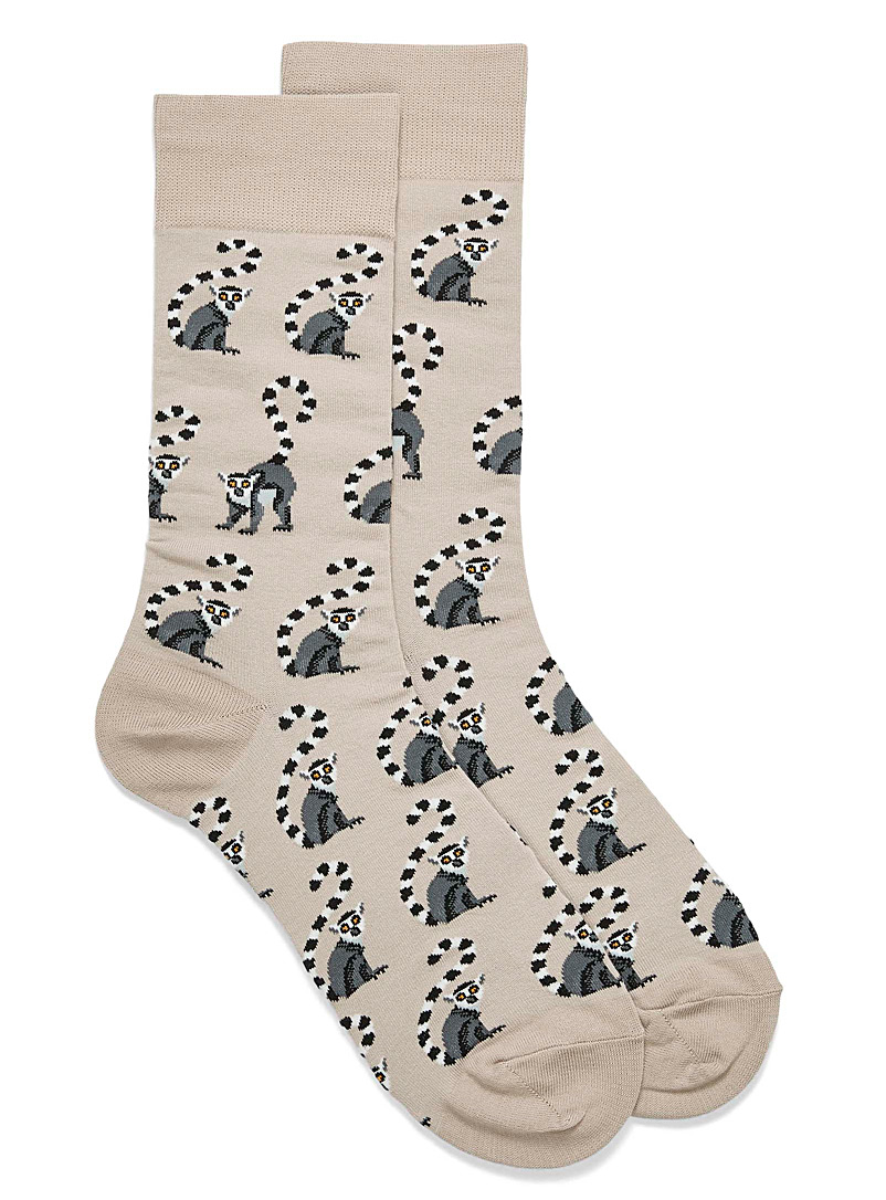 Hot Sox Sand Lemur socks for men