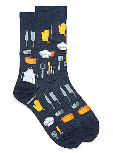 Hot Sox Slate Blue Master chef tools socks for men