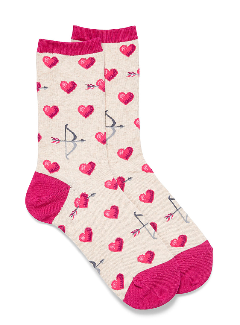 Hot Sox Sand Cupid's bow socks for women