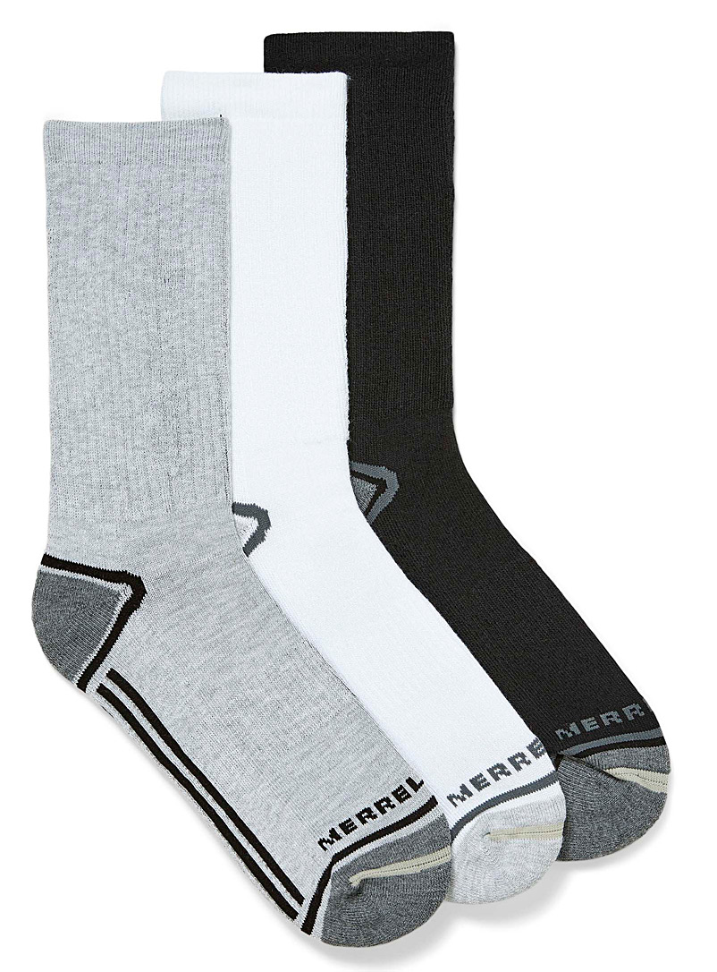 Merrell Grey Striped logo socks  Set of 3 for women