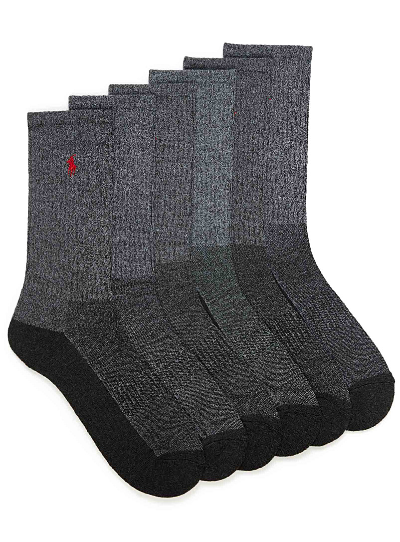 Athletic sock 6-pack - Athletic socks - Charcoal