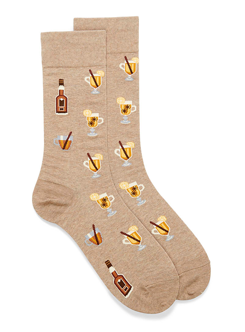 Hot Sox Light Brown Hot toddy socks for men