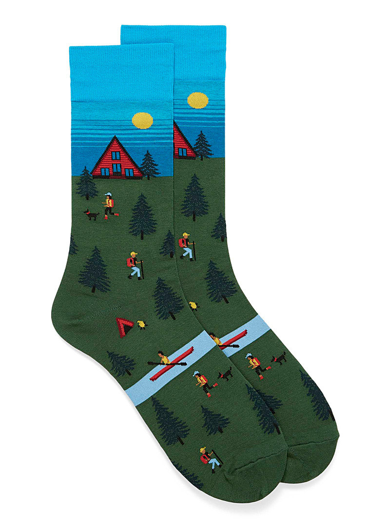 Hot Sox Teal Outdoor centre socks for men