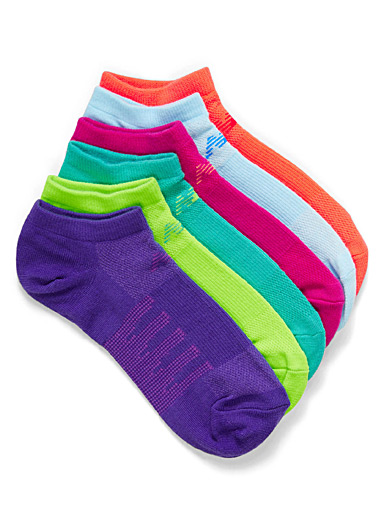 New Balance Assorted Pop athletic ped socks  Set of 6 for women