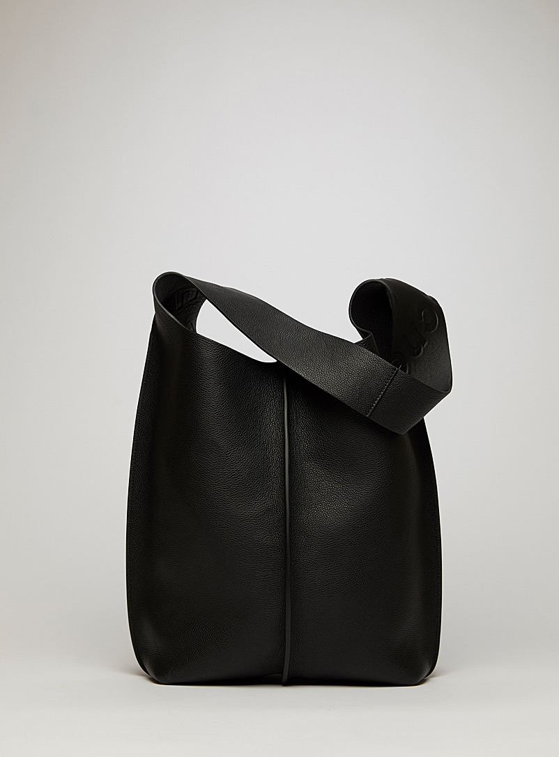 Acne Studios Black Grain leather tote bag for women