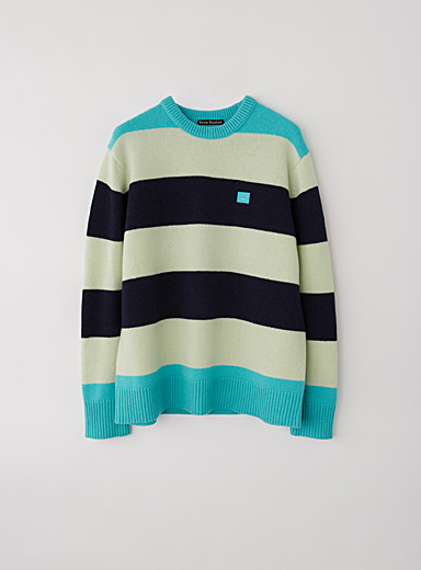 Acne Studios Teal Oversized striped sweater for women