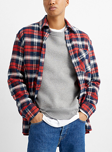 Acne Studios Patterned Red Flannel overshirt for men