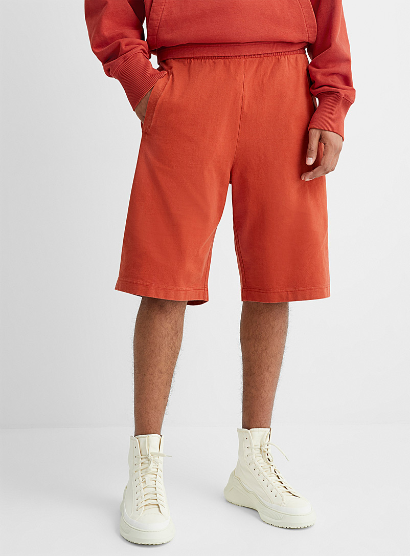 Acne Studios Orange Casual jersey Bermudas for men